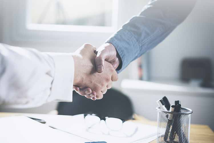 Handshake after document legalised